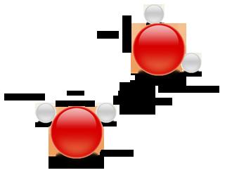 Illustration d'une molécule d'eau